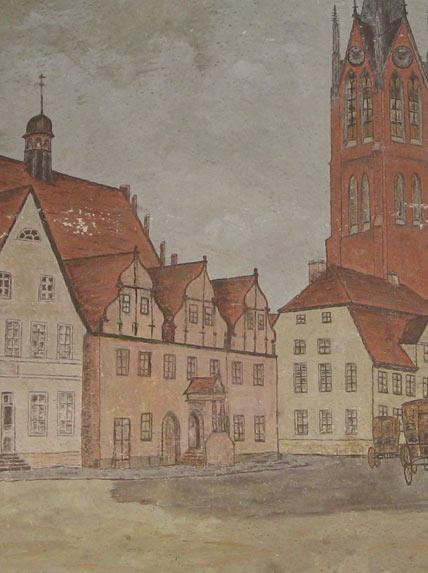Holzschnitt Ratskeller Kemberg bei Wittenberg
